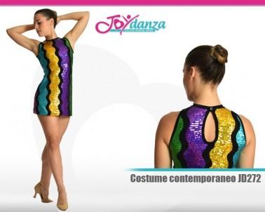 Tubino multicolor paillettato Danza Moderna Costumi moderna e musical