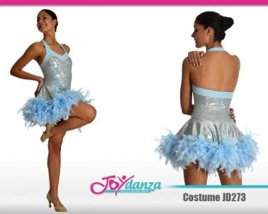 Costume laminato con piume Danza Moderna Costumi moderna e musical Latino e Caraibico