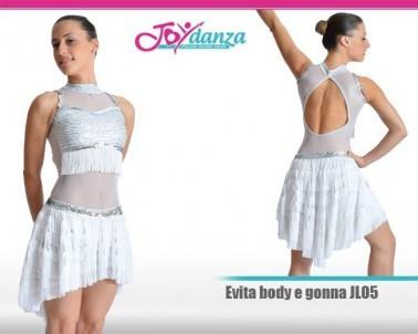 Body con gonnellone Danza Moderna Latino e Caraibico