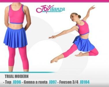Completo trial modern jazz Abbigliamento Danza Gonne leggings & top Danza Moderna Costumi moderna e musical