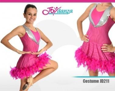 Costume con piume Danza Moderna Costumi moderna e musical