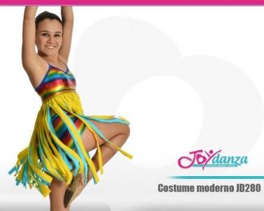 Vestito con frange colorate Danza Moderna Costumi moderna e musical