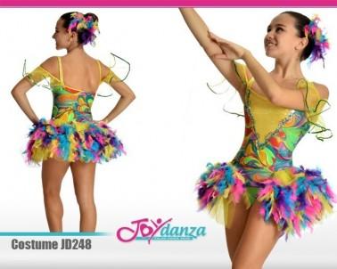 Costume uccello colorato Danza Moderna Costumi moderna e musical