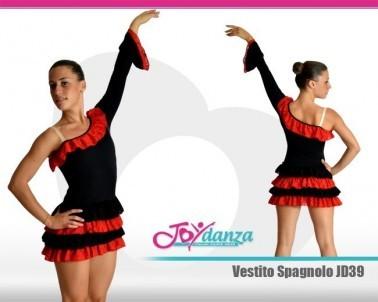 Vestito spagnolo Danza Moderna Costumi moderna e musical Latino e Caraibico