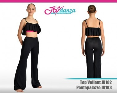 Pantalone e top bicolore Abbigliamento Danza Gonne leggings & top