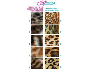 Tessuto Maculato per Cats Colori e Tessuti Elastici per corpo