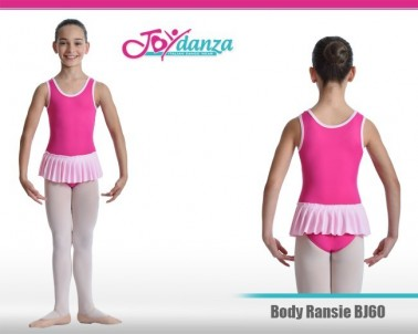 Body per danza bambina con gonna plissettata