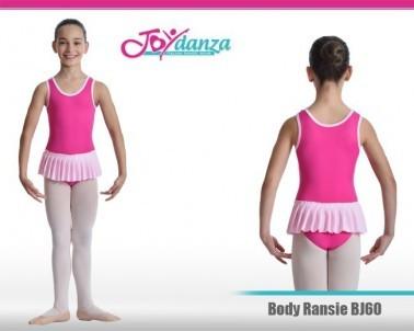Body per danza bambina con gonna plissettata
