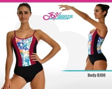 Body danza colorato personalizzabile