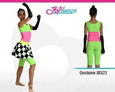 Completo Danza Fluorescente Danza Moderna Costumi moderna e musical