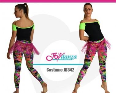Completo Top e Leggings fantasia Danza Moderna Costumi moderna e musical