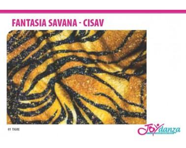 Tessuto Tigre della Savana Colori e Tessuti Elastici per corpo