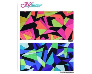Lycra Fantasia Geometrica Colori e Tessuti Elastici per corpo