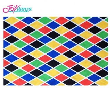 Fantasia Arlecchino Colori e Tessuti Elastici per corpo