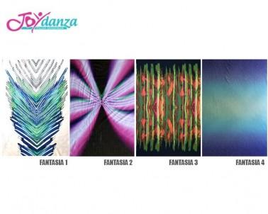Fantasia a Pannelli Colori e Tessuti Elastici per corpo