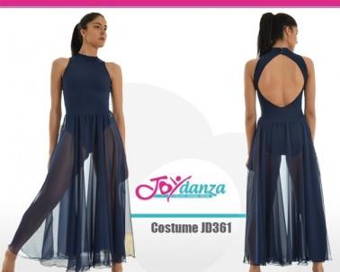 Body con gonna lunga Costumi Danza Classica Costumi moderna e musical Tutu economici Danza Contemporanea