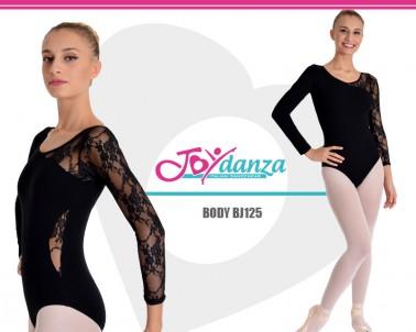 Body danza inserti in pizzo elastico