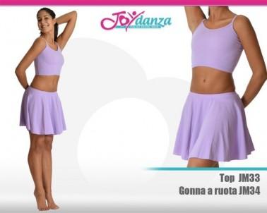Completo Danza Sportiva Abbigliamento Danza Gonne leggings & top