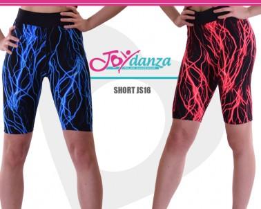 Shorts Stoffa Elettrica blu e rosso