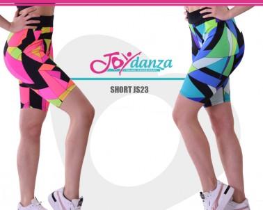Shorts Geometric rosa e blu