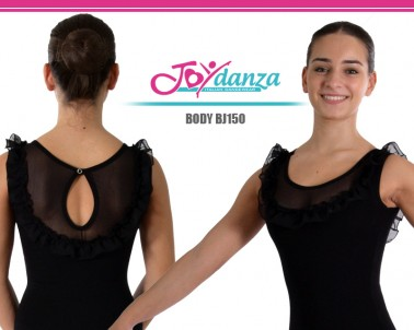 Body con Rouche in chiffon ed inserto in rete