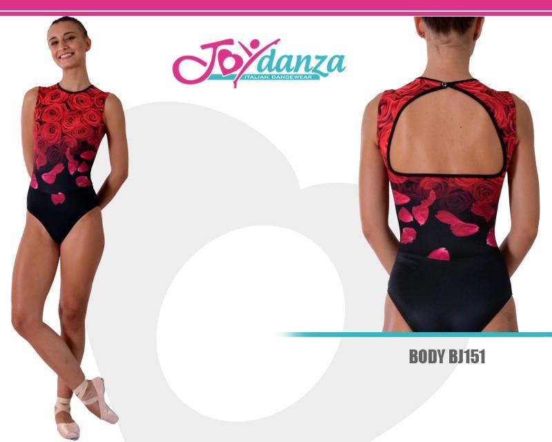 Body Danza personalizzabile in Tessuto Stampato