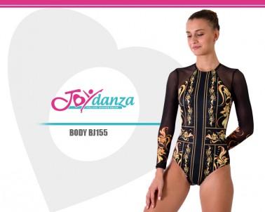 Body Manica Lunga con rete elastica e Stampa