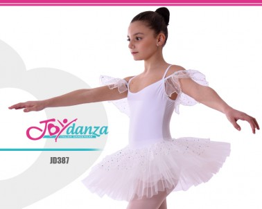 Tutù Danza Bianco con tulle brillante